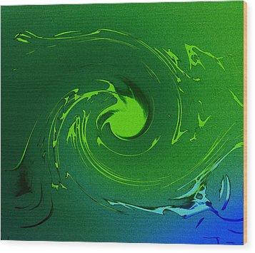 Neptunes Anger Wood Print by Steve K