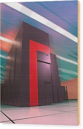 Nersc Supercomputer Wood Print by Lawrence Berkeley National Laboratory