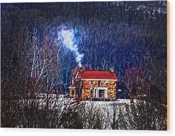 Nestled In For The Winter Wood Print by Randall Branham