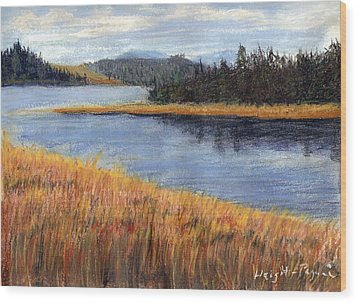 Nestucca River And Bay  Wood Print by Chriss Pagani