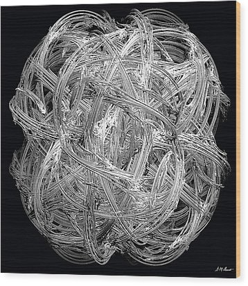 Network Wood Print by Michael Durst
