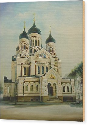 Nevsky Catedral Wood Print by Ahto Laadoga