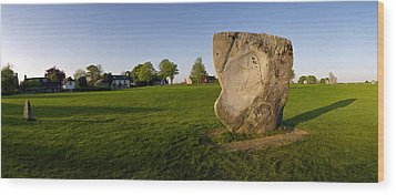 New And Old Stones At Avebury Wood Print