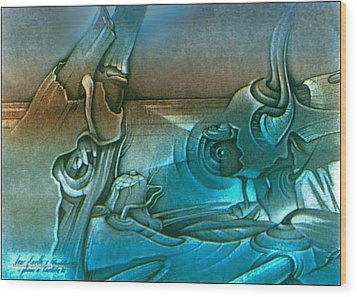 New Earth1 1992 Wood Print by Glenn Bautista