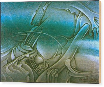 New Earth2 1992 Wood Print by Glenn Bautista