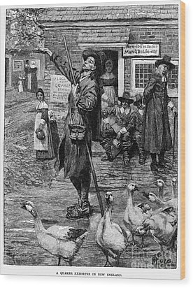 New England: Quaker, 1660 Wood Print by Granger