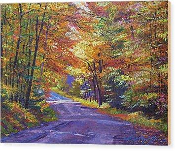 New England Roads Wood Print by David Lloyd Glover