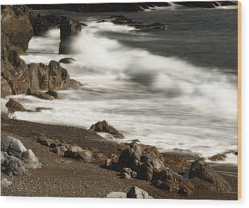 Wood Print featuring the photograph New England Seashore 2 by Raymond Earley