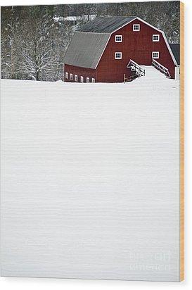New England Winter Wood Print by Edward Fielding