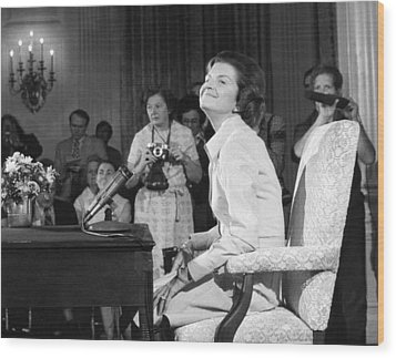 New First Lady, Betty Ford Wood Print by Everett