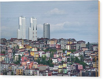 New Istanbul Wood Print by Cheminsnumeriques