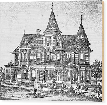 New Jersey: Atwood House Wood Print by Granger