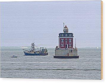 New London Ledge Lighthouse. Wood Print