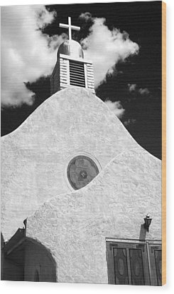 New Mexico Church Wood Print by Sonja Quintero