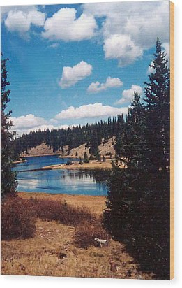New Mexico Lake Wood Print by Linda Pope