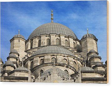 New Mosque Domes In Istanbul Wood Print by Artur Bogacki