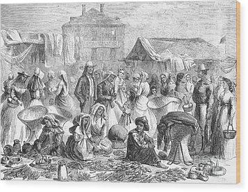 New Orleans: Market, 1866 Wood Print by Granger