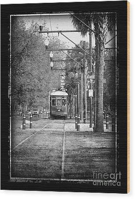New Orleans Streetcar Wood Print
