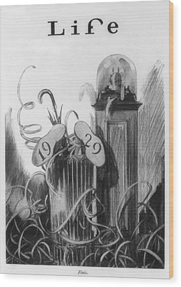 New Years Cartoon Related To The 1929 Wood Print by Everett