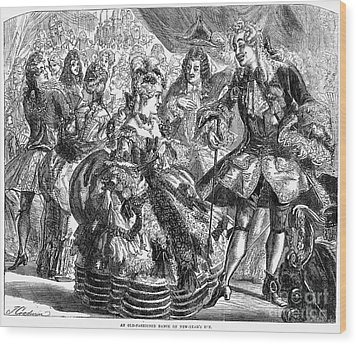 New Years Eve Ball, 1866 Wood Print by Granger