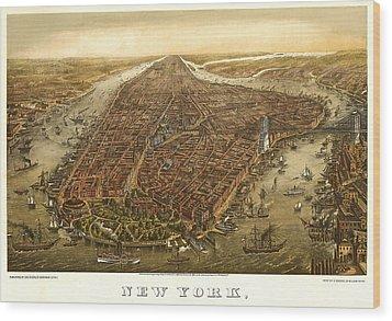 New York 1873 Wood Print by Donna Leach