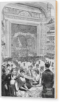 New York Charity Ball, 1884 Wood Print by Granger