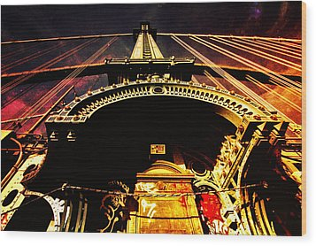 New York City Architecture Wood Print by Vivienne Gucwa