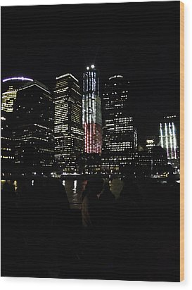 Wood Print featuring the photograph New York City Freedom Tower by Paul Plaine