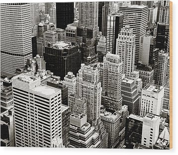 New York City From Above Wood Print by Vivienne Gucwa