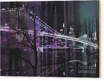 New York City II Wood Print by Christine Mayfield