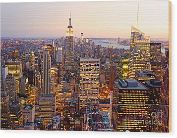 Wood Print featuring the photograph New York City by Luciano Mortula