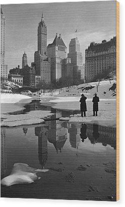 New York City, Plaza Buildings Wood Print by Everett