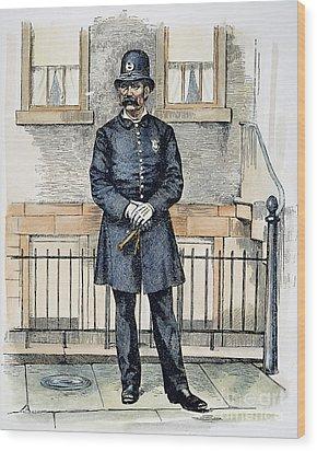 New York City Policeman Wood Print by Granger