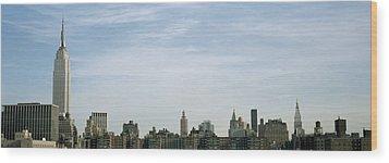 New York City Skyline Wood Print by Axiom Photographic