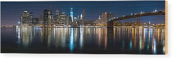 New York City Skyline Wood Print by Shane Psaltis
