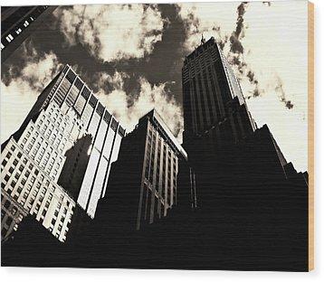 New York City Skyscrapers Wood Print by Vivienne Gucwa