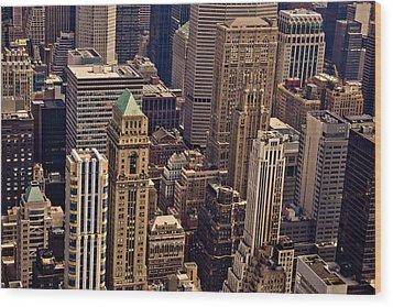 New York City Urban Landscape Wood Print by Vivienne Gucwa