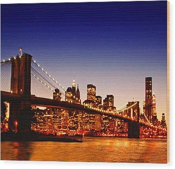 New York Cityscape Wood Print by ©jesuscm