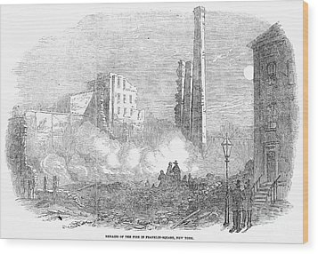 New York: Fire, 1853 Wood Print by Granger