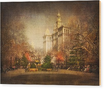 New York In April Wood Print by Svetlana Sewell