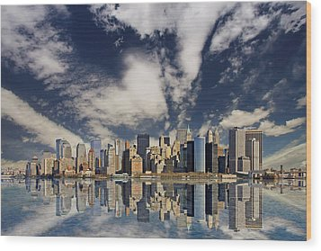 New York Wood Print by Marcel Schauer