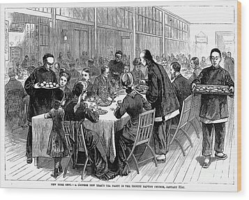 New York: New Years Party Wood Print by Granger