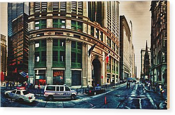 New York Nypd Wood Print by Radu Aldea