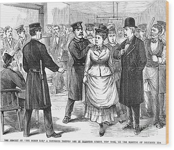New York Police Raid, 1875 Wood Print by Granger