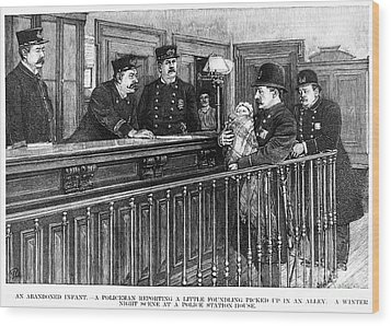 New York: Police Station Wood Print by Granger