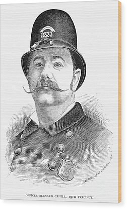 New York Policeman, 1885 Wood Print by Granger