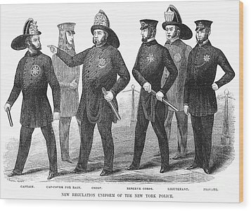 New York Policemen, 1854 Wood Print by Granger