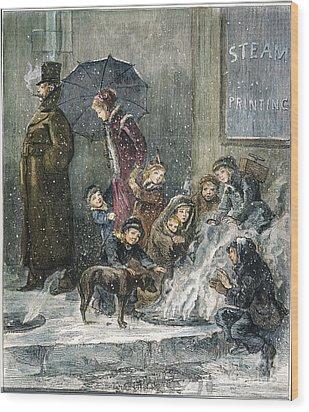 New York: Poverty, 1876 Wood Print by Granger