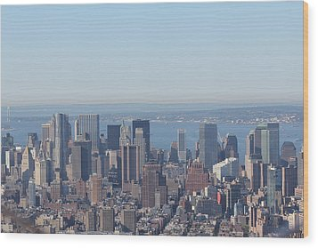 Wood Print featuring the photograph New York Skyline by David Grant