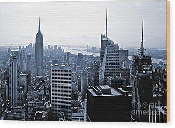 New York Skyline Wood Print by Thomas Splietker